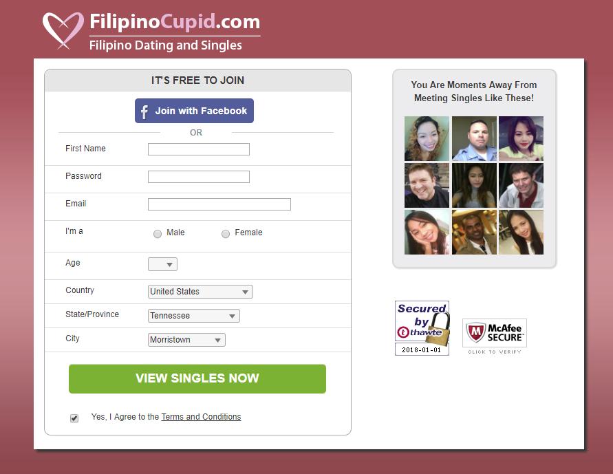 www filipinocupid com registration
